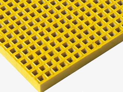 There is one piece of yellow mini mesh grating, which has concave surface.