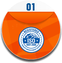 This is ISO 9001 logo, it is the sign of registered quality management system.