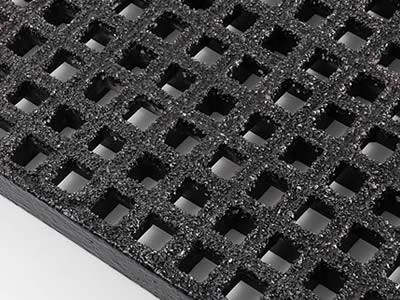 It shows one mini mesh fiberglass grating in black, it has grit surface.