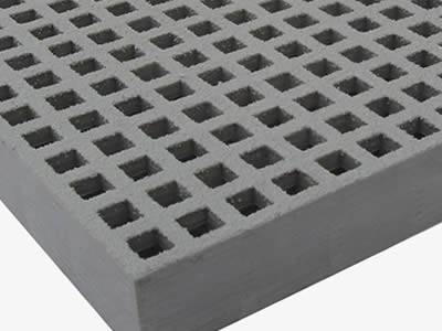 This is one part of mini mesh grating in gray, with grit surface.